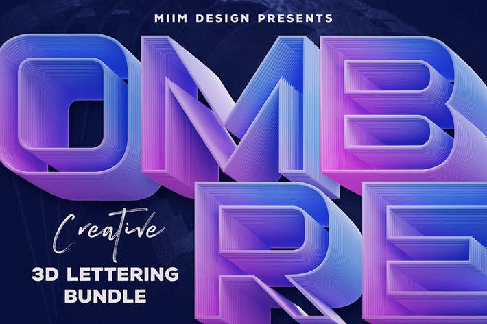 Thumbnail for Ombre – 3D Lettering