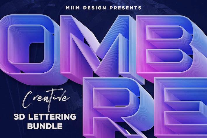 Ombre – 3D Lettering