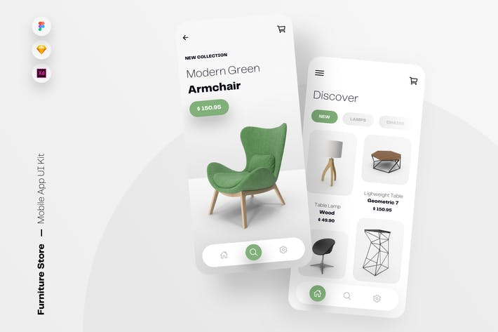 Furniture Store Mobile App UI Kit Template