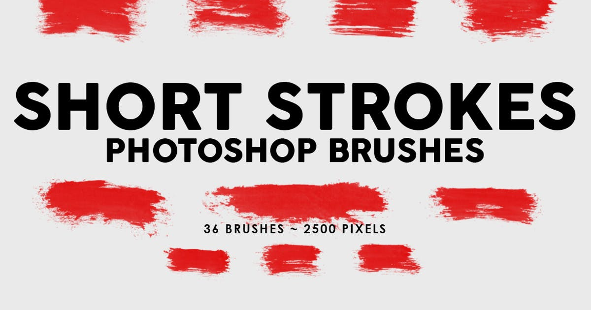 Download 36 Short Ink Strokes Photoshop Stamp Brushes by M-e-f