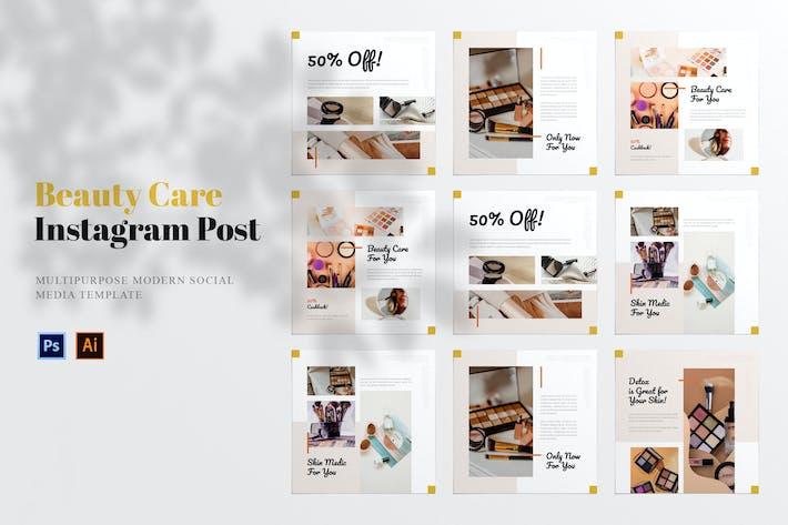 Thumbnail for Уход за красотой Пост в социальных сетях