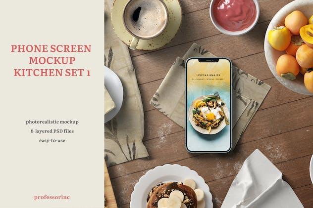 Phone Screen Mockup — Kitchen Set 1