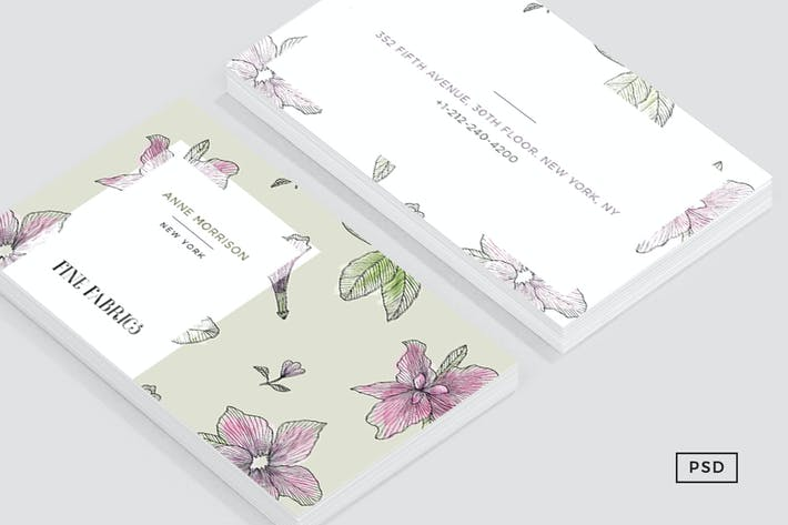 Thumbnail for Floral Pattern Business Card