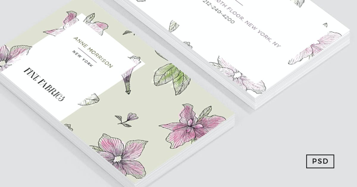 Download Floral Pattern Business Card by Unknow