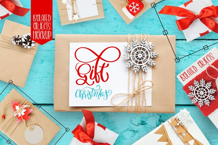 Thumbnail for Isolated Gift Christmas Mock ups