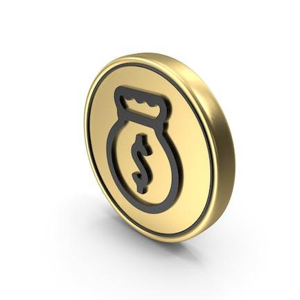 Dollar Bag Coin Logo Icon