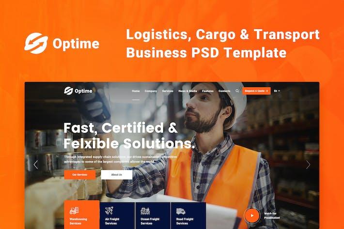 Thumbnail for Optime - Logistics, Cargo & Transport PSD Template