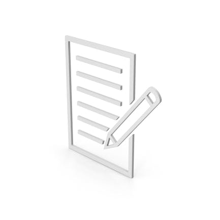 Symbol Document With Pen