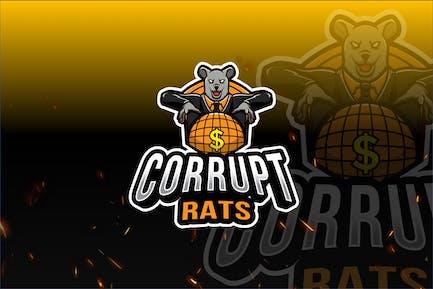 Corrupt Rats Logo Template