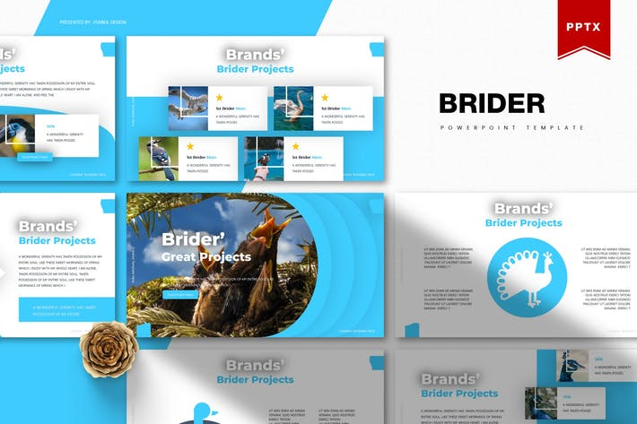 Thumbnail for Brider | Powerpoint Template