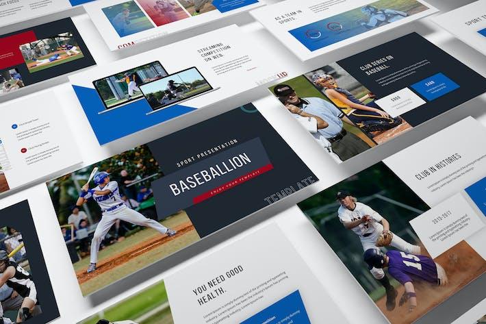 Шаблон презентации слайдов Google Baseballion