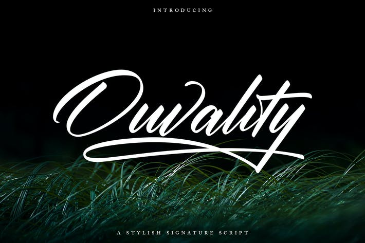 Thumbnail for Ouvality Script | Una fuente de script de firma elegante