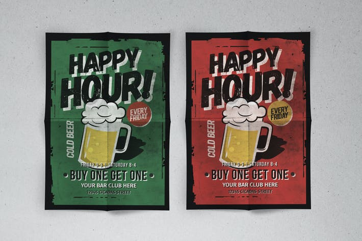 Cover Image For Classic Happy Hour Flyer