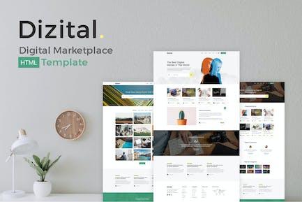 Dizital - Easy Digital Downloads HTML Template