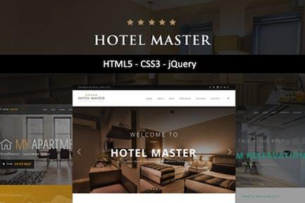 Отель Мастер | HTML Шаблон отеля