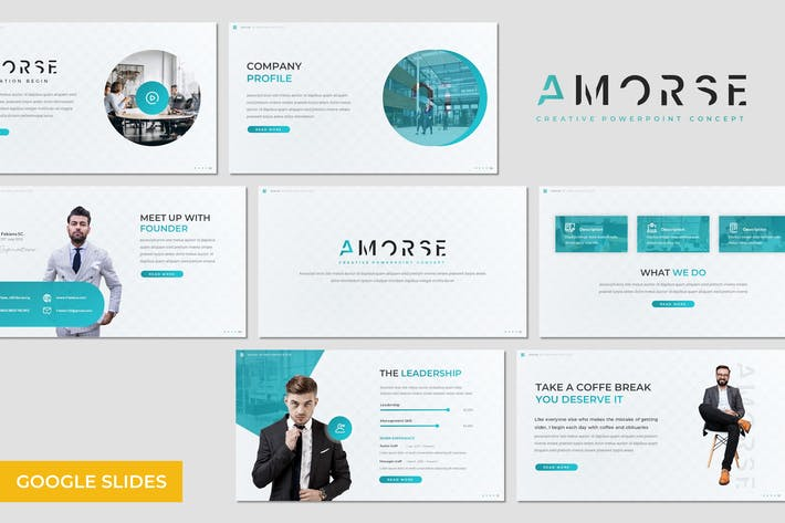 Thumbnail for Amorse - Business GoogleSlides Template