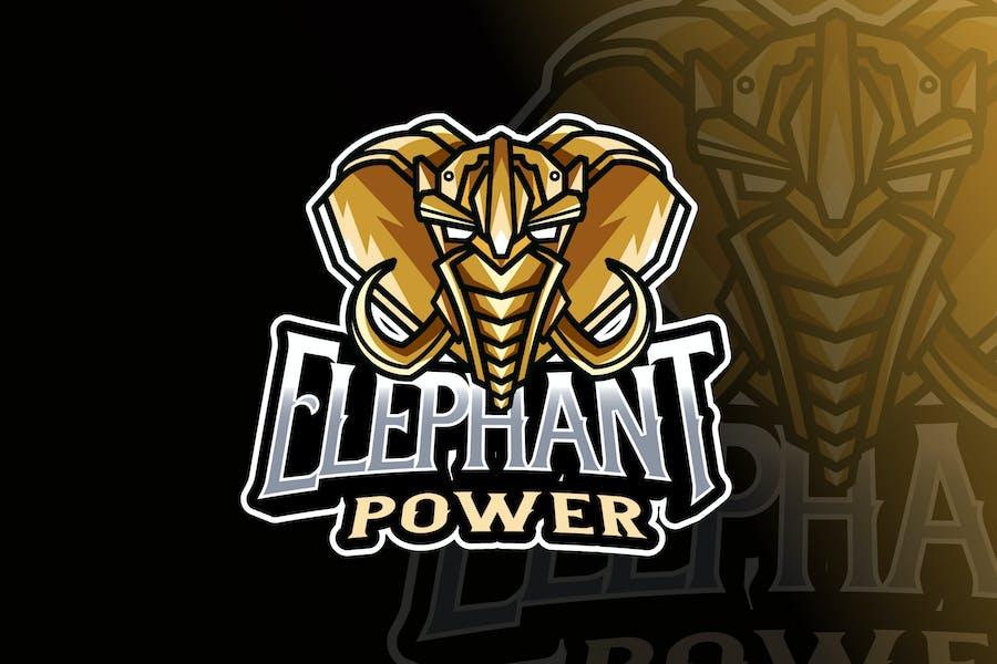 Elephant Robot Logo Template