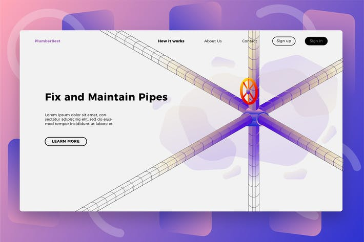 Thumbnail for Plumber Maintenance - Banner & Landing Page