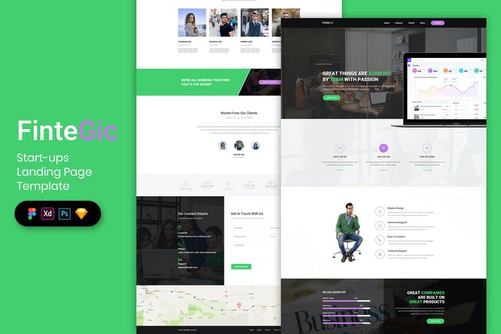 Thumbnail for Start-ups Landing Page Template-03