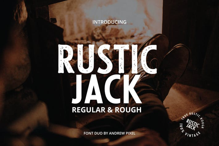 Thumbnail for Rustic Jack - A Vintage Font Duo