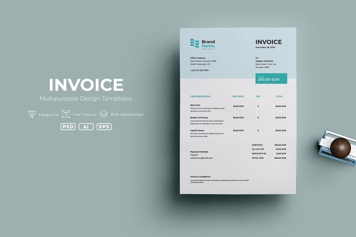 Thumbnail for ADL Invoice Template.v05