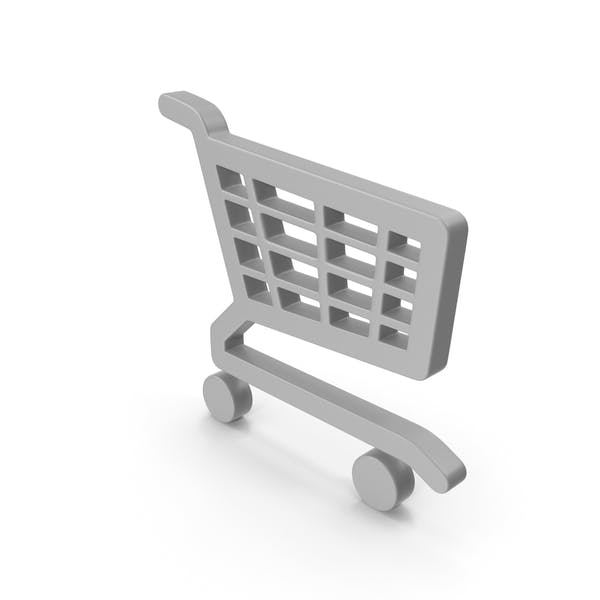 Shopping Cart Icon with Wheels