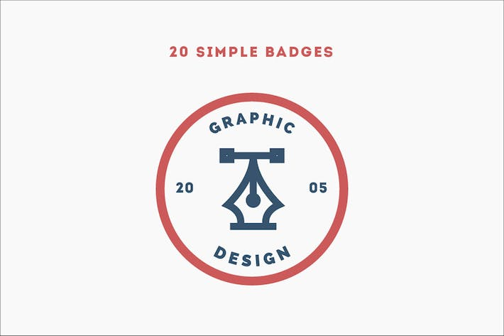 Cover Image For 20 Simple Badges