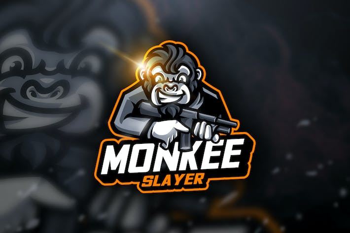 Thumbnail for Monkey Slayer - Mascot & Sport Logo