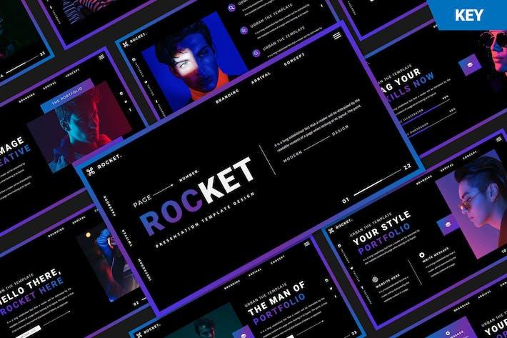 Шаблон Keynote Rocket