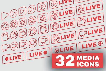 Gliederung Live Stream-Symb