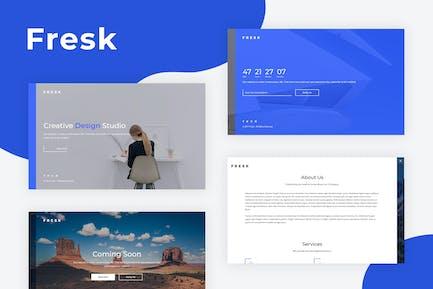 Fresk - Creative Coming Soon Template