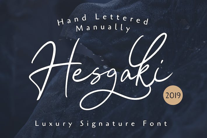 Thumbnail for Hesgaki - Luxury Signature Font