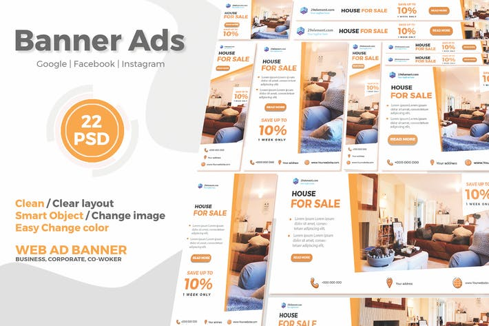 Real Estate Google Ads Web Banner V 1 Ftr By Angelbi88 On Envato Elements