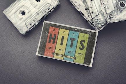 Vintage Cassette Tape Case With Cassette Mockup