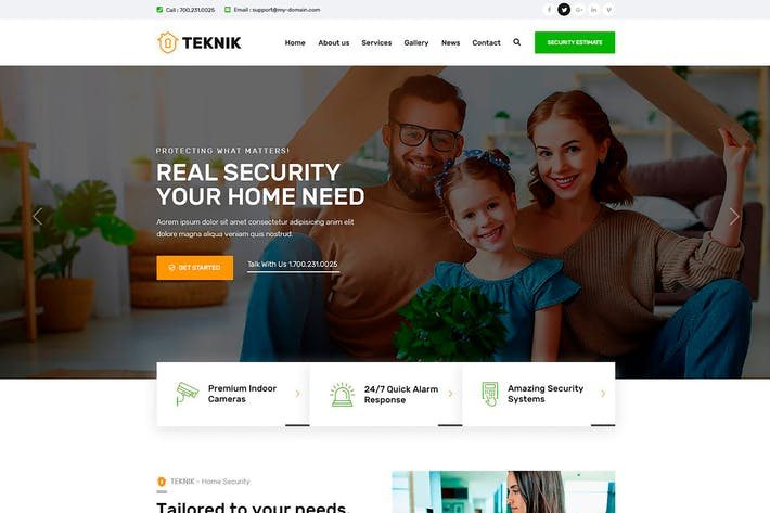 Thumbnail for Teknik - Security Services Figma Template