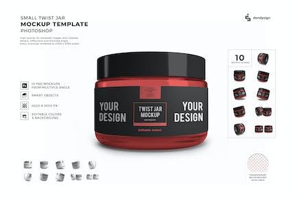 Twist Jar Packaging Mockup Template Set