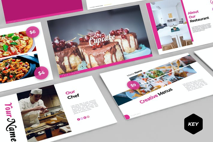 Cover Image For Cupcake - Keynote Template