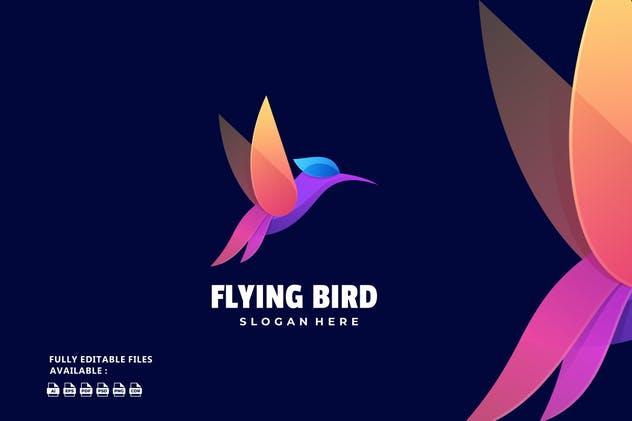 Bird Gradient Colorful Logo