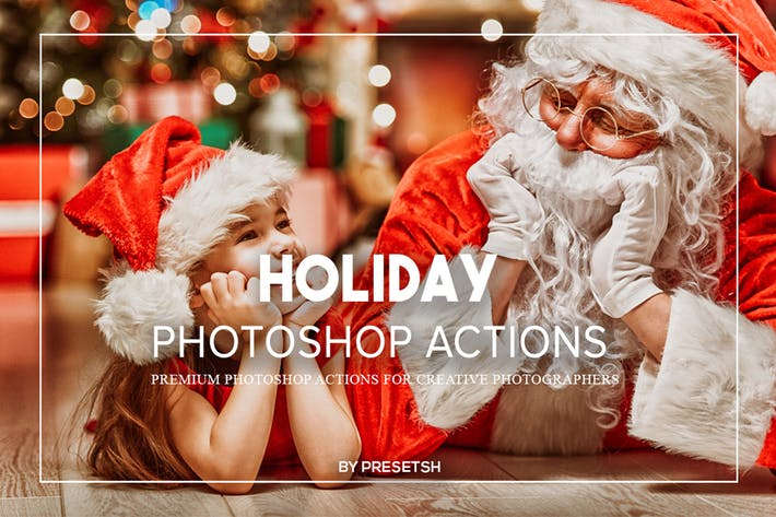 Thumbnail for Holiday Photoshop Actions