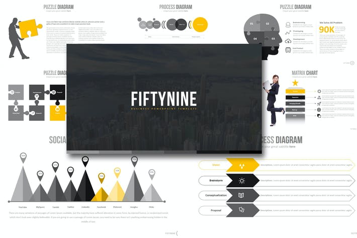 Thumbnail for Fifty Nine - Powerpoint Template
