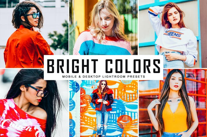 Thumbnail for Bright Colors Mobile & Desktop Lightroom Presets