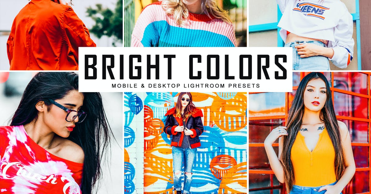 Download Bright Colors Mobile & Desktop Lightroom Presets by creativetacos