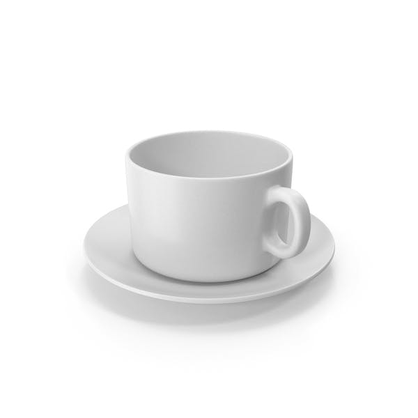 Coffee Cup With Plate Empty