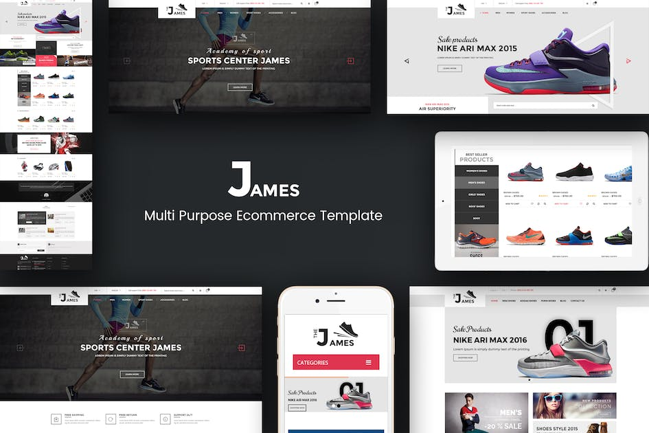 Download James - Responsive Opencart Shoes Store Theme by posthemes
