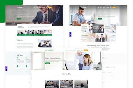 Finance Corp - Template Financial Business Website