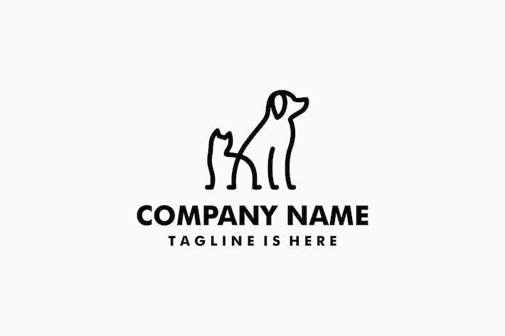 Thumbnail for Logo de perro gato mascota Monoline