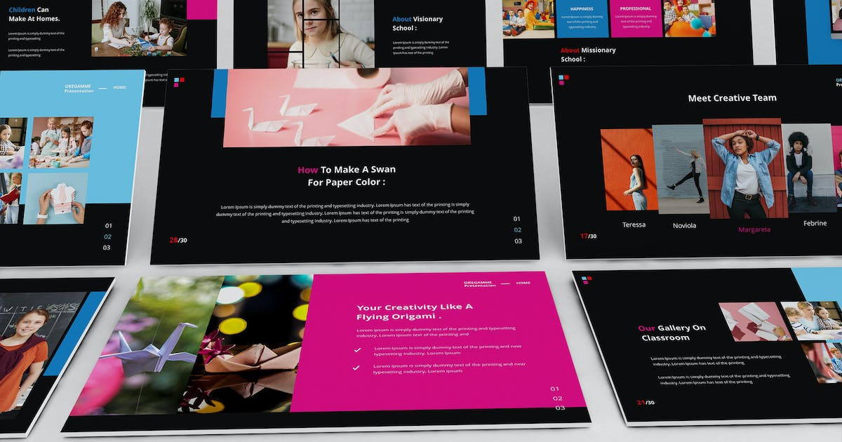 Download Origamme Powerpoint Presentation Template by Formatika