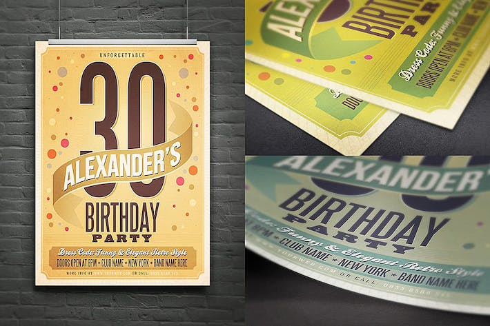 Thumbnail for Retro Birthday Flyer/Poster/Ad