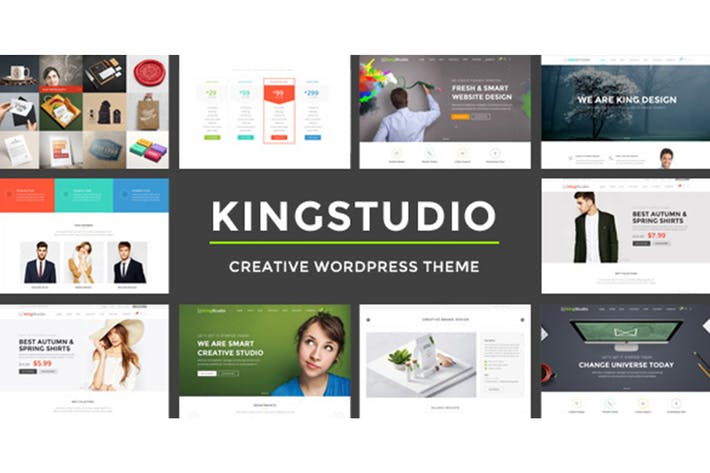 Thumbnail for Kingstudio - Modèle HTML polyvalent