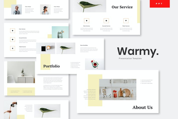Thumbnail for Warmy - Minimalist Powerpoint Template